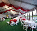 500 People Aluminum Outdoor Event Tents for Sale and Parties with Decorations and Church Windows or Glass Sidewalls