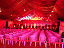 Red Durable Outdoor Event Tent , Strong Gala Tent Marquee Selectable Color