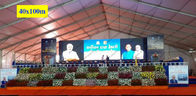 40 x 100m Huge Trade Show Event Tents With Wood Floor For Export Trade Exhibition
