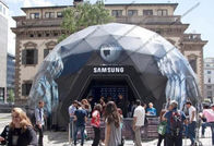 SAMSUNG Geodesic Dome Shelter For High Level Event Organizers , Companies