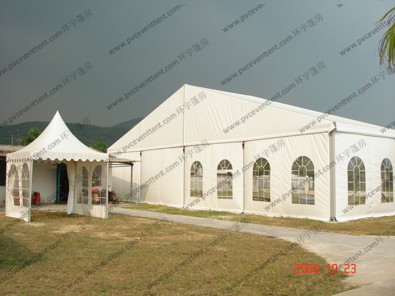 Economical PVC Event Tent High Strength Aluminium Alloy 500 People Capacity