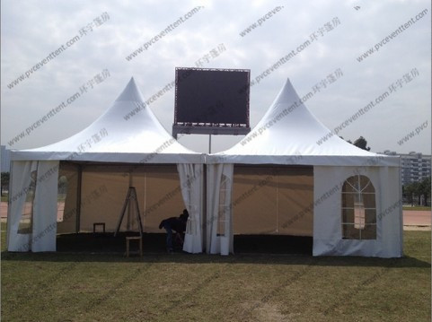 4 x 4m / 5 x 5m Pagoda Marquee Tent Modules Church Windows For Outdoor Party