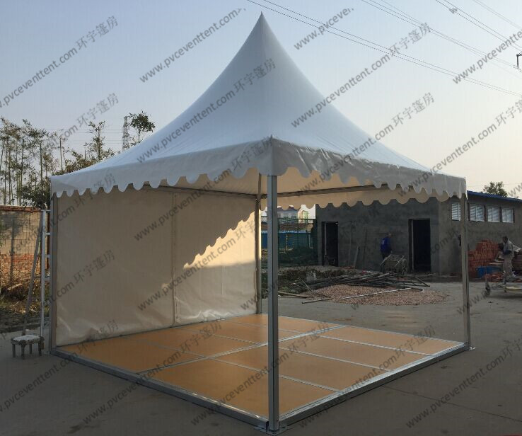 Removable Floor System High Peak Tents White Color Aluminum Frame For Trade Show
