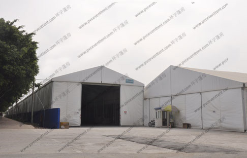 5m Height Warehouse Storage Tent Flame Retardance White With PVC Roof Cover
