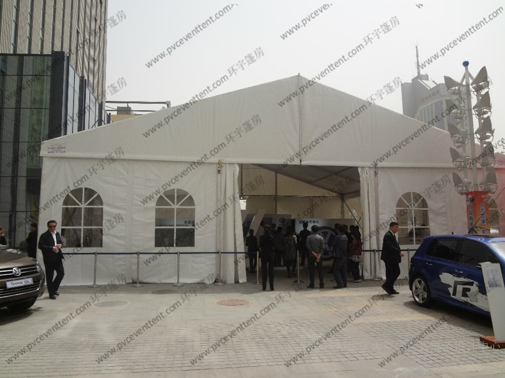 White Aluminum Frame Exhibition Canopy Tent 15m Width With Luxury Lining Decoration