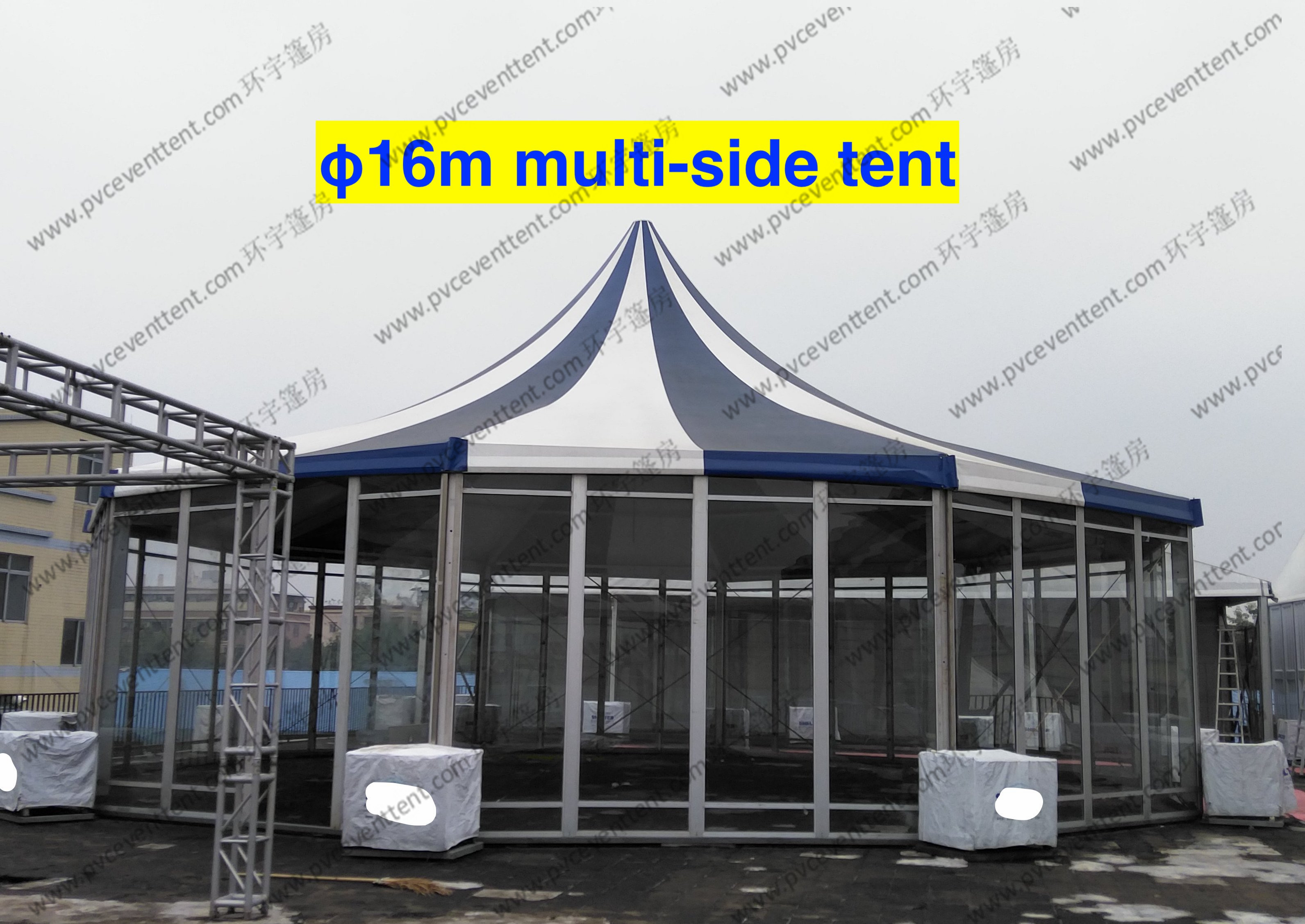 PVC Fabric Polygon Tent Multi - Side , ISO 9001 Approved Pagoda Canopy Tent