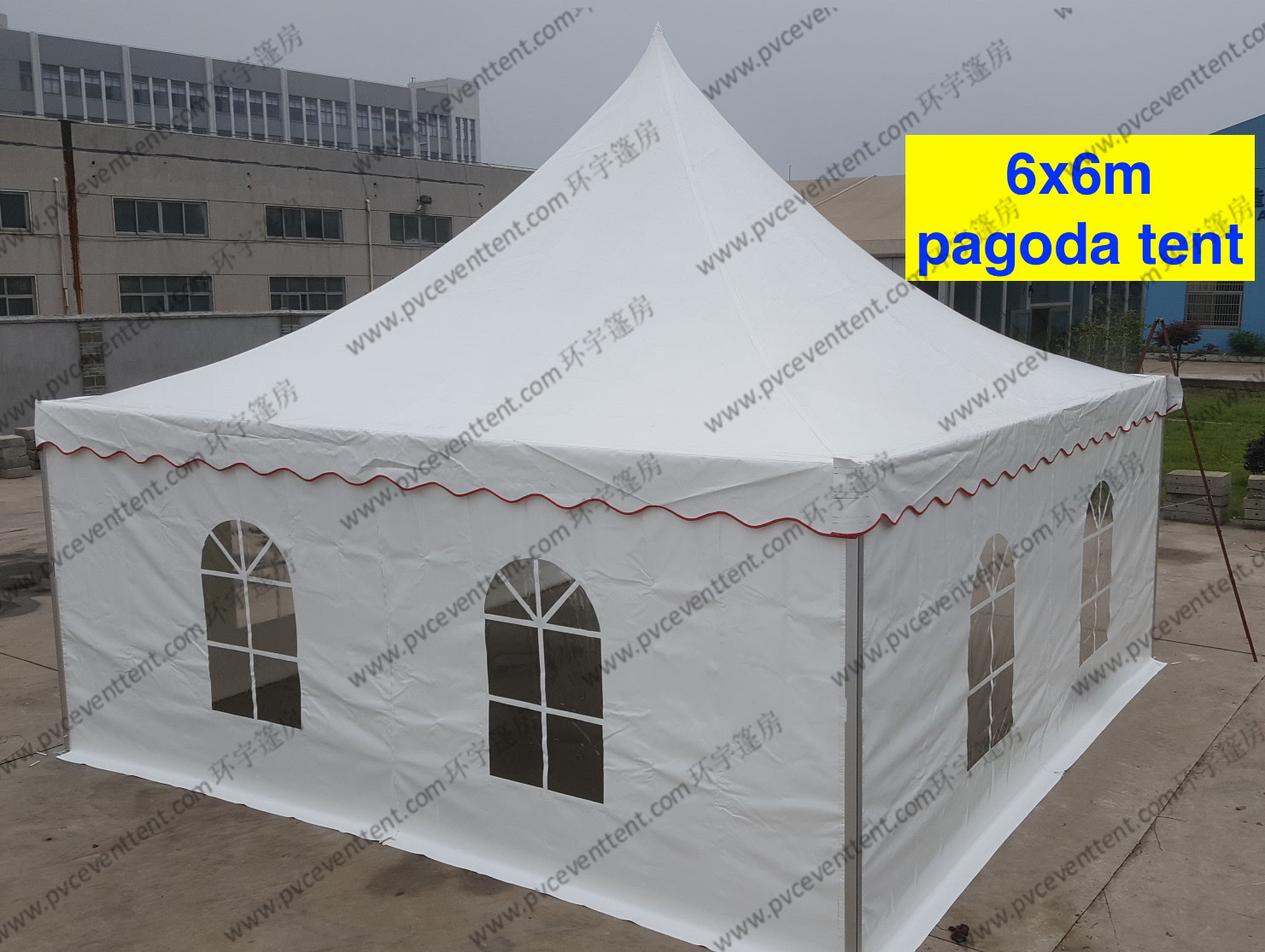 Mini Waterproof High Peak Tents / Peak Pole Tent With Transparent Sidewalls