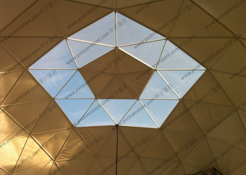 Customized PVC Cover Geodesic Dome Tent Convenient For Outside Event / Trade Show