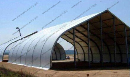 Fire Retardant Curved Tent Outdoor Party , Heavy Duty Tents With White PVC Fabric