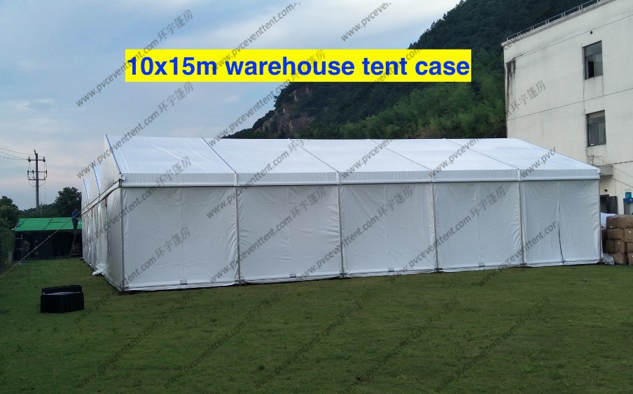 Glass Wall 10 x 15m Outside Storage Tent Customized Printing On The Grassland