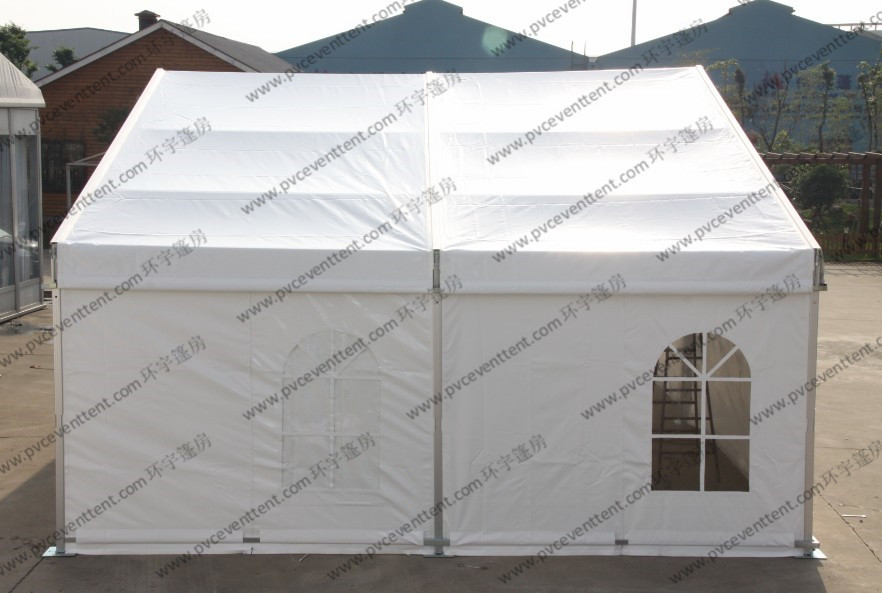 White PVC Event Tent 10 x 6m , Outdoor Warehouse Canvas Tents With Windows