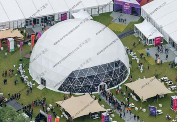 Outside Event Large Geodesic Tent Durable With High Strength Steel Tube Frame