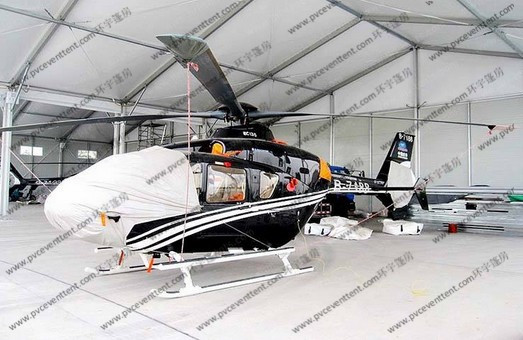 White Waterproof Aircraft Hangar Tent For Helicopter Parking Or As Hanger Shelter