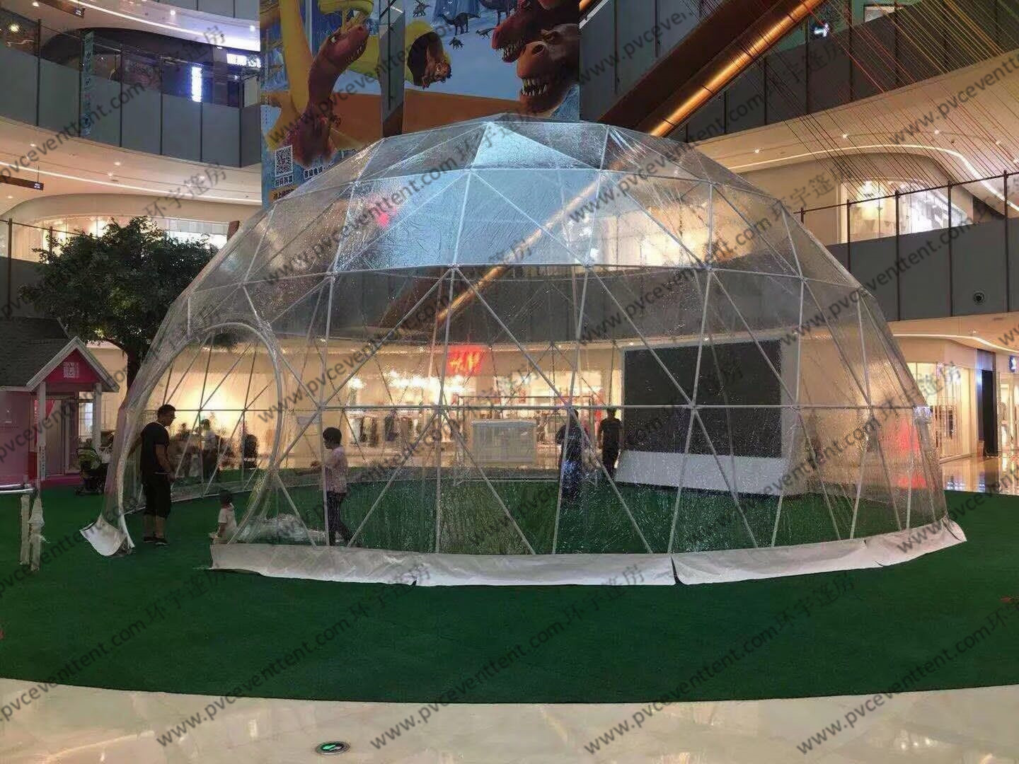 Durable Waterproof Geodesic Dome Tent For Big Temporary Events And Functions